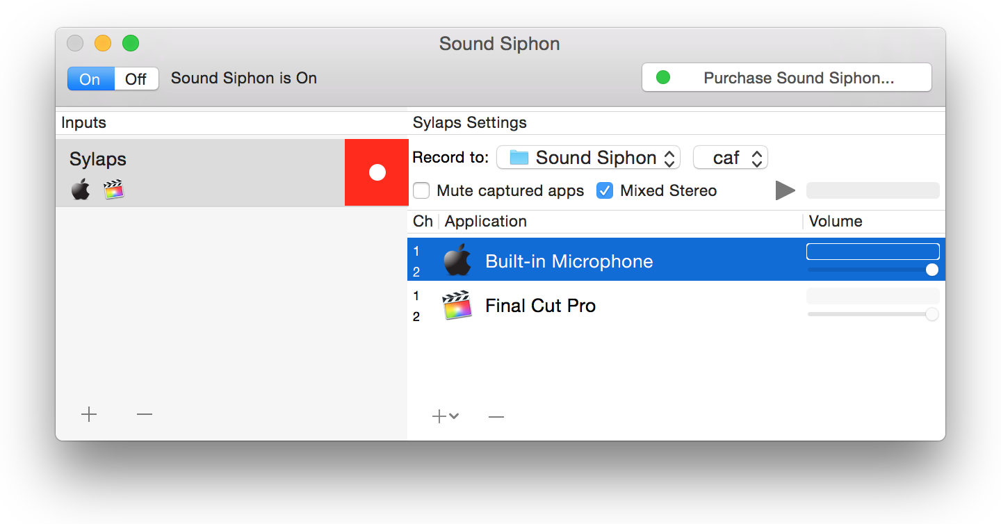 Sylaps Sound Siphon share audio from app
