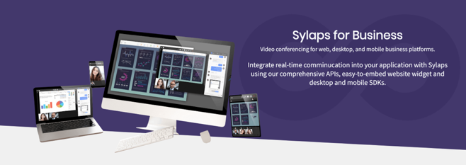 Sylaps for Business - Video conferencing for web, desktop, and mobile business platforms